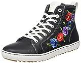 BIRKENSTOCK Damen Bartlett Women Hohe Sneaker, Schwarz (Inuit Flowers Black), 38 EU