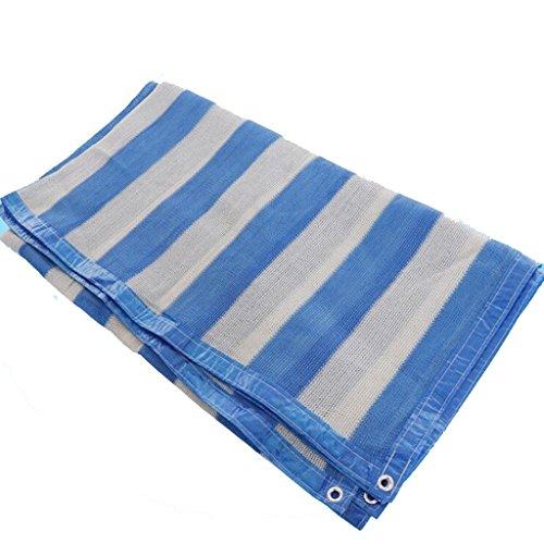 Filet D'ombrage 3 Broches Cryptage Bleu Et Blanc Bordure D'enroulement De Plein Air Patio Balcon Anti-UV Filet Solaire (taille : 2 * 3m)