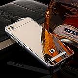 D-kandy Luxury Metal Bumper + Acrylic Mirror Back Cover Case For Xiaomi Redmi 4A - SILVER