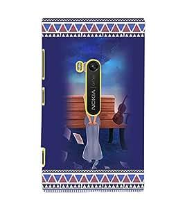 PrintDhaba Sad Girl D-3169 Back Case Cover for NOKIA LUMIA 920 (Multi-Coloured)