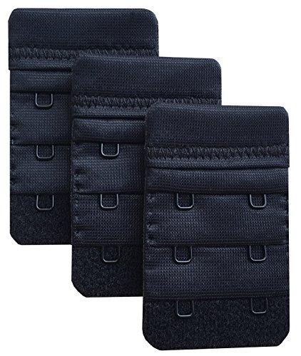 Chanie Damen Packung mit 3 Weich Komfortabel Erweiterung 2 Haken BH-Verlängerer, 6,1cm x 3,8cm