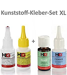 kunststoff kleber set xl die schwei naht aus der flasche inkl cleaner und primer f r pp. Black Bedroom Furniture Sets. Home Design Ideas