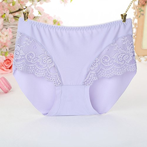 FZmix Women Panties Lady Seamless Panty Briefs Underwear Lingerie Breathable Purple