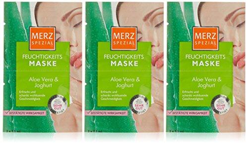 Merz Spezial Feuchtigkeitsmaske Aloe Vera und Joghurt 2x7,5 ml, 3er Pack (3 x 15 ml)