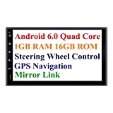 Panlelo PA09, 7 Zoll 2 Din Head Unit Android 6.0 GPS Navigation Car Stereo Audio Radio 1080P Video Player ARMv7 Quad Core eingebaut Wi-Fi Bluetooth AM/FM/RDS Steering Wheel Control …