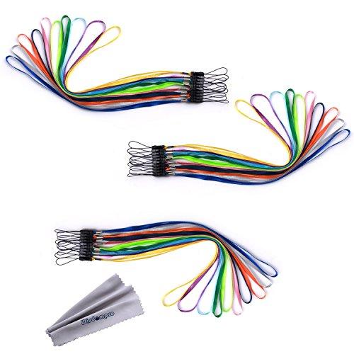 Wisdompro® 100Colorful Hand Handgelenk/Hals Lanyards/Straps/Saiten Pack Pack für USB, Schlüssel, Schlüsselanhänger, ID Namensschild Ausweishalter, Video, Spiel oder andere tragbare Gegenstände
