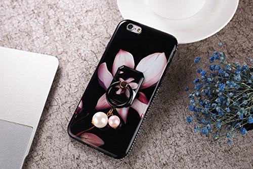 iPhone 6/6S Coque, iPhone 6S TPU Coque,iPhone 6 Double Faces Corps entier Silicone Housse,ETSUE Coque Silicone Gel Créativité Transparent 360 Degré Avant et arrière Ultra-mince Full Complet protéger C Lys