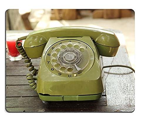 MSD caoutchouc naturel tapis de souris image 24871411Old Vert Vintage Téléphone sur la table