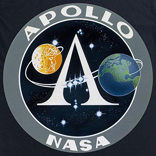Official NASA Apollo Logo T-Shirt, Herren Schwarz