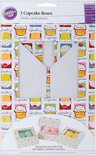 Wilton Cupcake Heaven Schachteln für 4 Standard-Cupcakes/Muffins 3Stück (Dekorieren Kuchen Wilton Cupcakes)