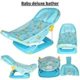 Favy Deluxe Baby Folding Bather for Newborn Babies (Multicolour)