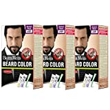 #5: Bigen Men's Beard Color, Natural Black B101 (20g + 20g) (Pack Of 3, Natural Black)