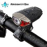 Yakamoz Multifunktions USB LED wiederaufladbar Lampe vor Fahrrad Bike Light Wasserdicht Zyklus Torch 3Modi 1200mAh vor Leuchtturm Fahrrad Helm Taschenlampe für Radfahren