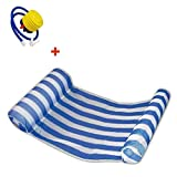 Syfinee Inflatable Floating Water Hammock Float Lounge Bed Swimming Pool Chair with Pump