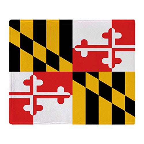 CafePress-Maryland State Flagge-weicher Fleece Überwurf Decke, 127x 152,4cm Stadion Decke -