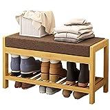 Schuhregal Einfache und Moderne Wirtschaft Home Schuhbank Schuhschrank Massivholz Rollsnownow (Farbe : A)