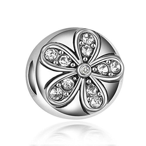 WAYA Silber Charm Blume Synthetische Kristall Perlen Für Anhänger Halskette Armbänder Armreif Kette Schmuck