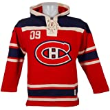 Old Time Hockey Montreal Canadiens Lace Up Jersey Hoodie NHL Sweatshirt