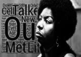 Nina Simone–Mr. Bojangles–Songtext Poster–Pop Star Legende Superstar King Best Farbe Foto Bild Einzigartige Print A4Wand Poster laminiert