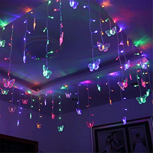 lights 1 5m x 0 5m 48 led butterfly curtain lights string 230v uk