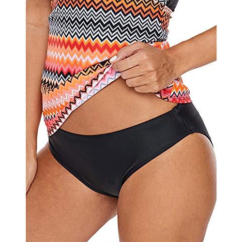 Womens Athletic Slip (FLHLH Women'sAthletic Bathing Badeanzug , Slip mit niedriger Taille Sommerbademode Hose Quick Dry Strandhose schwarz Slip mit niedriger Taille - schwarz L)