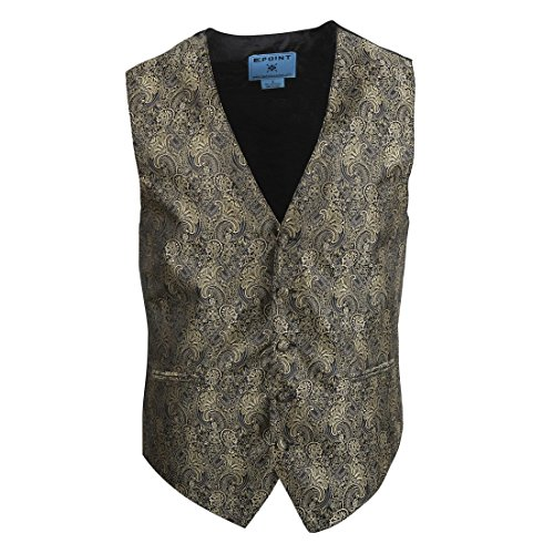 EGC2B.01 Series Style Patterns Microfiber Black-Back Dress Tuxedo Waistcoats Vest By Epoint