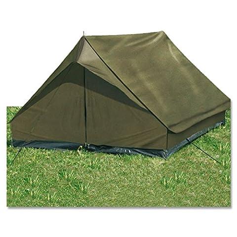 G8DS® Leichtgewichtiges widerstandsfähiges 2-Mann-Zelt mit hoher Wassersäule ′mini pack Super′ oliv (Aluminium Stahl Tee-kessel)
