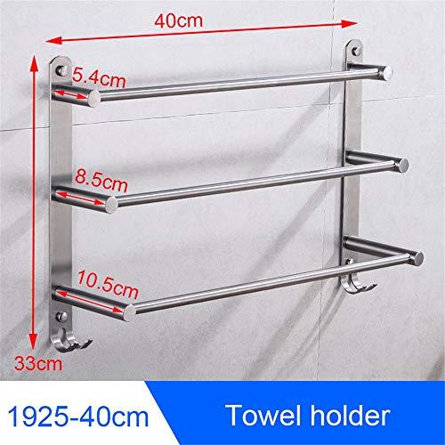 ZYC Bad Edelstahl Handtuchhalter Wand Handtuchhalter Hängen Halter Einzigen Handtuchhalter Ring Kleiderhaken Toilettenpapierhalter,4 -
