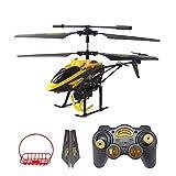 GizmoVine Wltoys RC Elicottero Telecomandato Giroscopio Integrat Helicopter RC Elicottero (Crane & Basket, red crane)