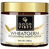 Good Vibes Wheatgerm Nourishing Night Cream, 100 g Deep Moisturization, Healing Formula For Dry Skin, Helps Reduce Acne, Wrin
