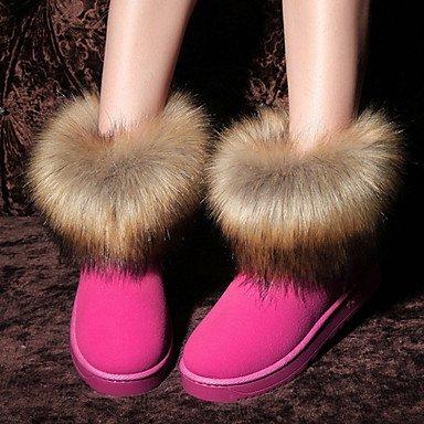 RTRY In Inverno Fashion Caviglia Novità Tacco Boots Piatto Snow Lanugine Pelle EU36 UK4 Da Stivali Toe CN36 Nubuck Fodera Scarpe Donna Comfort Autunno Stivali US6 Round Stivaletti t0qrw6t