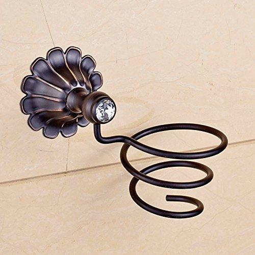Oro antico rame parete capelli asciugacapelli rack/scaffalature , black bronze