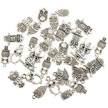 - Charming Beads OWL Pack of 30 Grams Mixed Tibetan Random Shapes /& Sizes Charms - HA07455