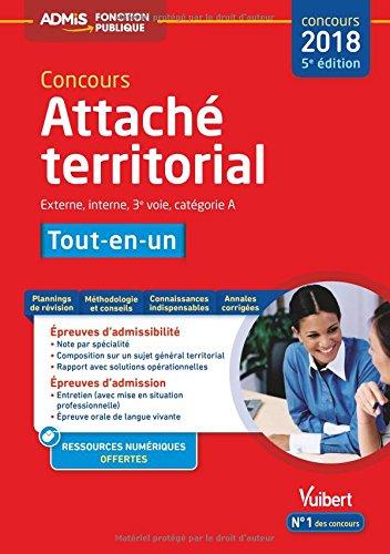 Concours Attach territorial - Catgorie A - Tout-en-un Concours 2018