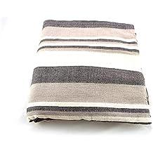 Cubre camas y sofás de la India (Gris-blanco)