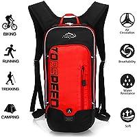 OUTDOOR LOCAL LION 10L Mochilas de Hidratacion Ciclismo al Aire Libre de Unisex Multifuncional Impermeable de Poliester Para Viaje,Rojo