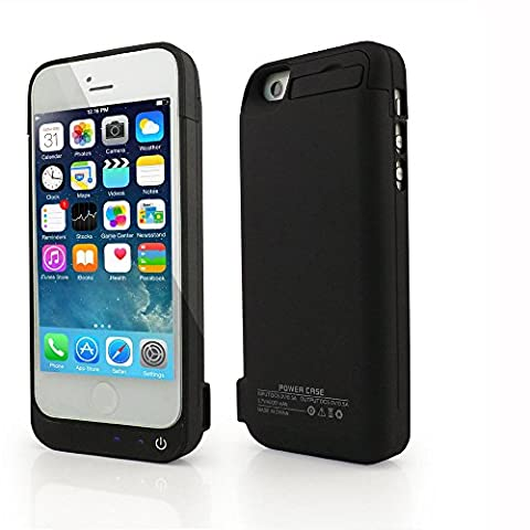 Stoga 4200mAh Iphone 5C 5 5S External Power Pack Case and Rechargeable Back Up Battery Charger-Black