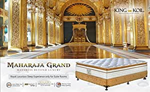 King Koil Maharaja Grand 12-inch Queen Size Spring Mattress (White, 75x66x12)
