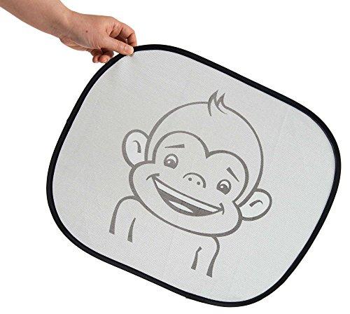 Preisvergleich Produktbild Sonnenschutz Auto Baby - Sonnenblenden für Kinder - Set (2 Stück) - passend für fast alle Autofenster - mit extra starkem UV Schutz