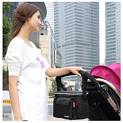 candora ™ Kinderwagen Buggy Buddy Baby Buggy Organizer Aufbewahrungstasche isoliert Aufbewahrung Schultertasche