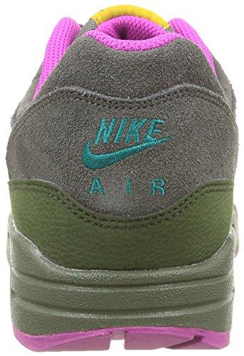 Nike Air Max 1 Ltr, chaussures de sport homme Multicolore - mehrfarbig (Dk Pwtr/Blk-Crbn Grn-Fchs Flsh)