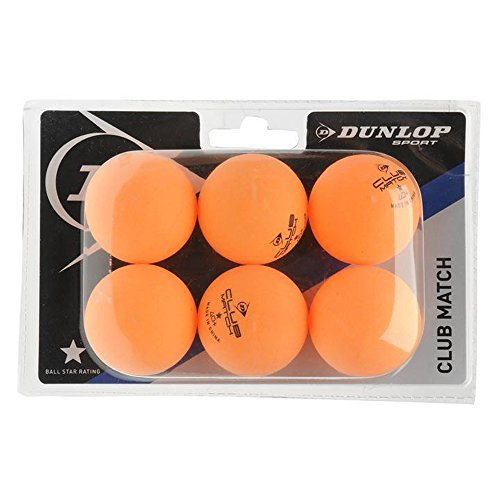 Farbig Ping-pong-bälle (Outdoor Tischtennis-Bälle Dunlop x6 Dunlop Tischtennisbälle Orange - 40)