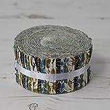 Stoff Freiheit Arts & Crafts Olive Grün Jelly Rolls 40Stoffstreifen 100% Baumwolle Geschenkbündel je Strip 6,3cm Breite x 106,7cm Länge Quilten Craft Patchwork Stoff Bundle Made in der UK Marke Neu In Präsentation Paket