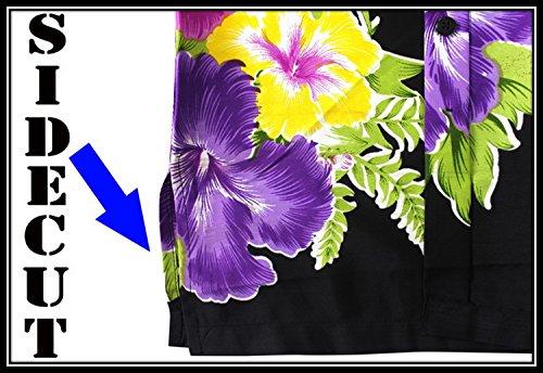 LA LEELA Strand Hawaiihemd Herren XS - 5XL Kurzarm Front-Tasche Hawaii-Print Casual Button Down Hemd Blau Violett