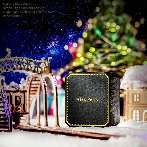 Alex Perry Damen Kette 925 Sterling Silber Zirkonia Halskette mit Anhänger Rosegold Plattiert Weihnachtsgeschenk Schmuck zum Geburtstag Jubiläum Valentinstag Mutter Frau Tochter Mädchen Sie