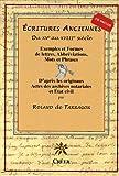 Ecritures anciennes du XVe au XVIIIe siècle : Exemples de formes de lettres, abréviations, mots et phrases d'après les originaux, actes des archives notariales et état civil (1Cédérom)