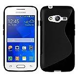 Samsung Galaxy Trend 2Lite SM-G318H: carcasa silicona Gel diseño S-Line–Negro
