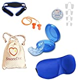 #8: SnoreDoc Complete Sleep Aid Kit Includes Stop Snoring Mouth Guard, Chin Belt, Nasal Dilators, Eye Mask, Ear Plugs & Storage Bag