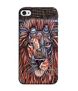 PrintVisa Designer Back Case Cover for Apple iPhone 4S (Jaipur Rajasthan Tribal Azitec Mobiles Indian Traditional Wooden)