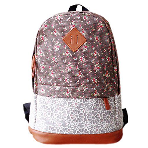 "HITOP Fashion Retro New street style Plaza Ladies Vintage Floral Canvas Backpack for Outdoor Camping Picnic Außflug Sports iPAD 14 "" laptop bag satchel University School sports bag Bag"